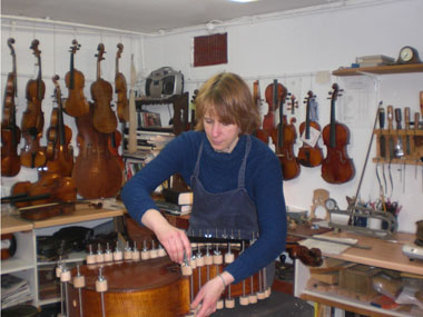 In the old violin workshop
